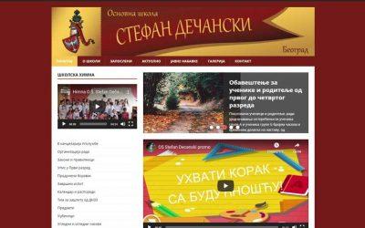 Održavanje školskog web sajta OŠ Stefan Dečanki