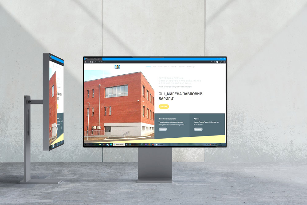 izrada web sajta za skole