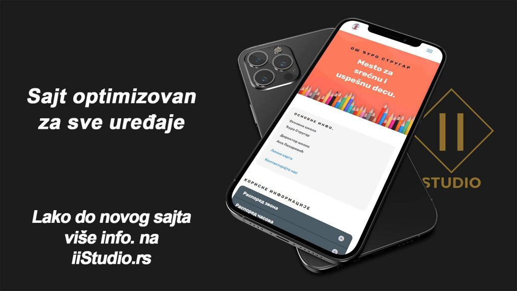 izgrel sajta koji je optimizovan za mobilne uredjaje