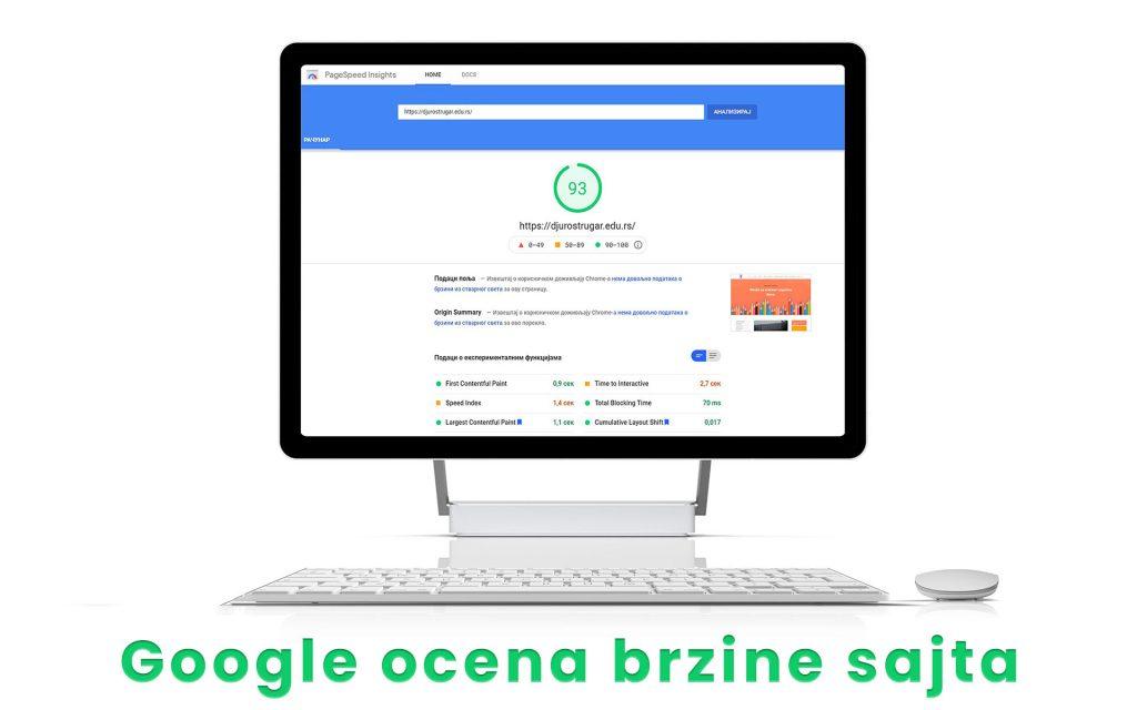 Odlicna brzina sajta po Google standardima