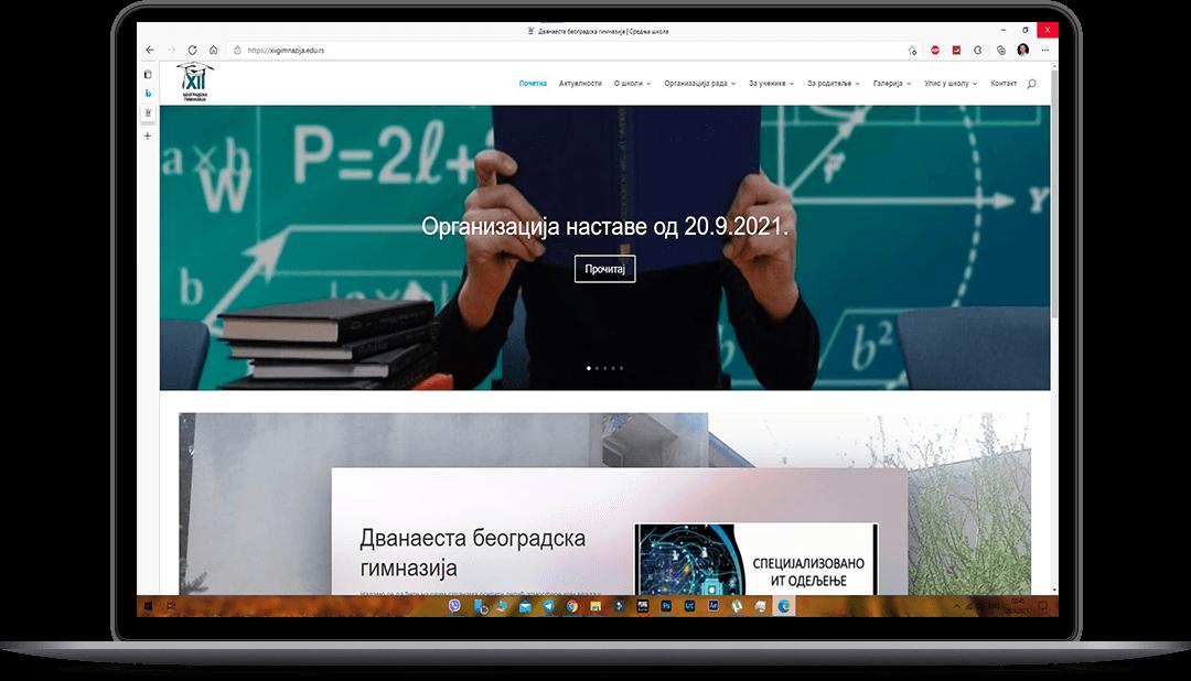 portolfio web sajtova za skole